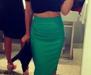 cropped, dress, and girl image