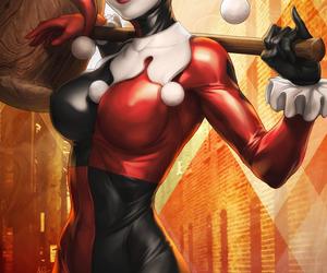 harley quinn, batman, and DC image