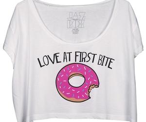 doughnut, funny, and shirt image