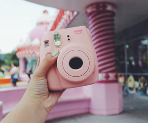 camera, pink, and tumblr image