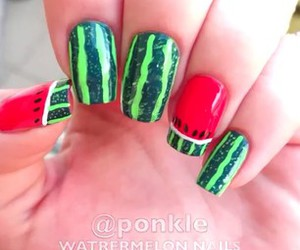 nails, style, and watermelon image