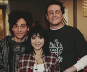 how i met your mother, lily, and marshall image