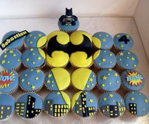 batman, cupcake, and food image