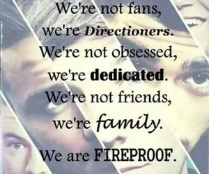 one direction, directioners, and fireproof image