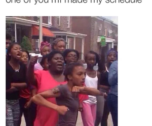 school, funny, and schedule image