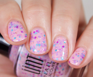 nails, glitter, and nail polish image