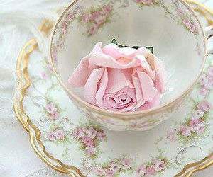 dishes, floral, and vintage china image