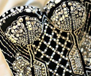 fashion, black, and diamond image