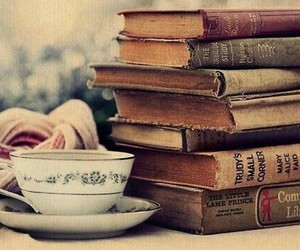 fabulous, tea cup, and i love books image
