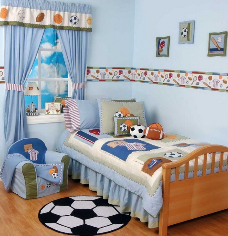 Bedroom Designs The Great Design Of The Little Boys Rooms With The Beautiful Decoration Of The Boys Room The Interesting Design Of The Little Boys Room With The White Blue Quilt On