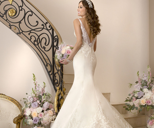 wedding, wedding dress, and bridal gowns image