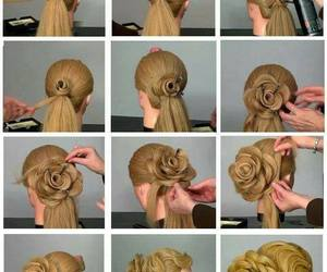 hair, step by step, and girl image