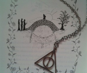 book, collar, and harry potter image