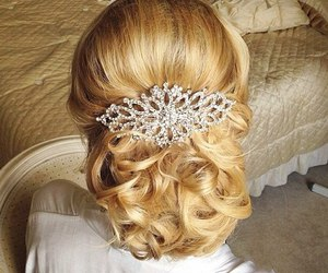 hairstyle, barrettes, and girl image