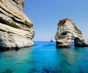 beautiful, blue, and Greece image
