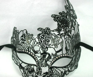 masquerade mask, moulin rouge, and venetian mask image