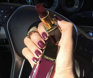 nails, lipstick, and tom ford image