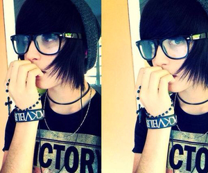 emo guy and perfect image