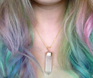 boho, crystal necklace, and fashion image