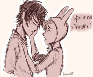 marshall lee, adventure time, and fionna image