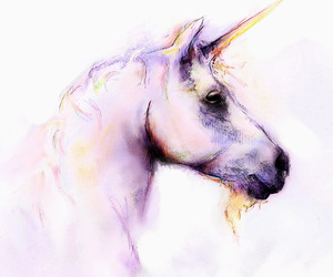 unicorn, pink, and art image