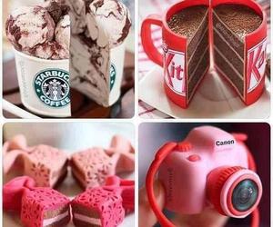 cake, starbucks, and food image
