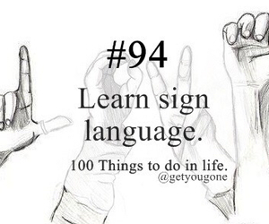 100 things to do in life, language, and 94 image