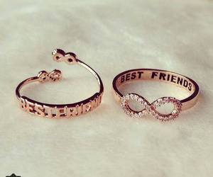 best friends, friendship, and ring image