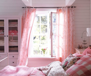 pink, bedroom, and cute image
