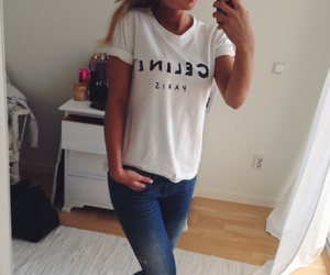 celine, jeans, and girl image