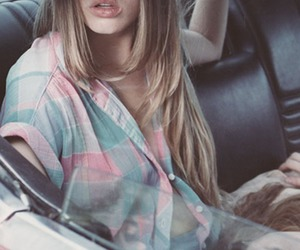 girl, car, and blonde image
