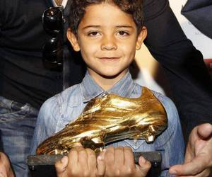 cristiano ronaldo jr, cr7, and golden boot image