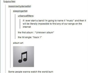 funny, music, and tumblr image
