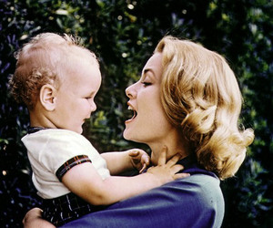 grace kelly, mother, and baby image