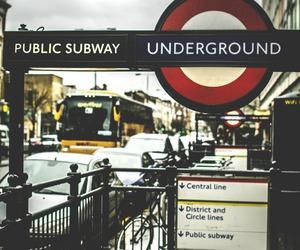 london, underground, and subway image