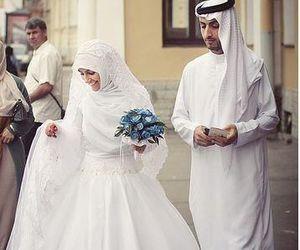 marriage, muslim, and wedding image