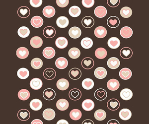 brown, hearts, and wallpaper image