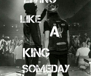 black and white, pierce the veil, and vic fuentes image