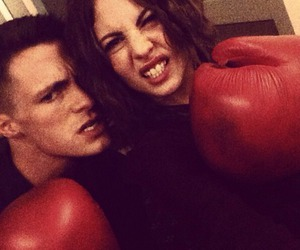 willa holland, colton haynes, and roy and thea image