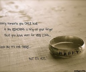 ring, love, and quote image