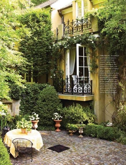 balcony, beautiful, and garden image