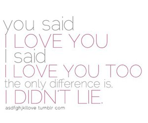 love, lie, and text image