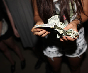 money, girl, and party image