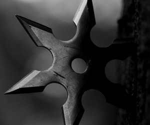 ninja, weapon, and shuriken image