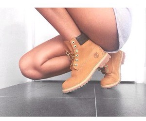 shoes, girl, and timberland image