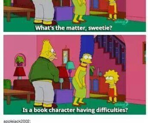 book, simpsons, and funny image
