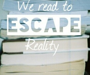 books, reality, and escape image