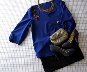 blue, shoes, and outfit image