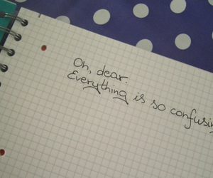 confusing, diary, and broken heart image