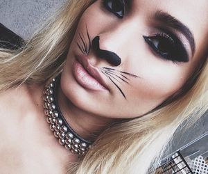 pia mia, cat, and Halloween image